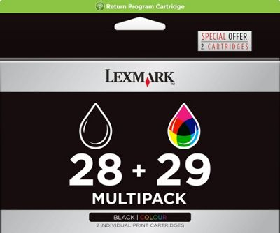 Lexmark 28/29 Printer Ink Cartridge (18C1520EKIT)- Tri-Colour