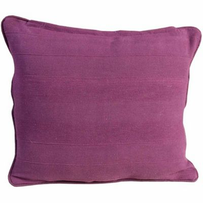 Homescapes Cotton Rajput Ribbed Purple Cushion Cover, 60 x 60 cm