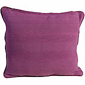 Homescapes Cotton Rajput Ribbed Purple Cushion, 60 x 60 cm