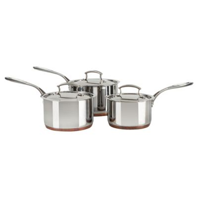 Professional Cook 3 Piece Copper Base Pan Set