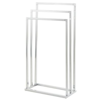 Lloyd Pascal Freestanding Towel Rail Stand, Chrome