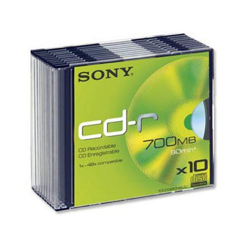 Sony CD-R Slim Case - pack of 10