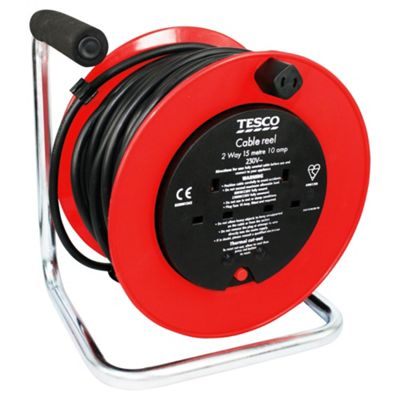 Tesco 15m 2 Way Cable Extension Reel