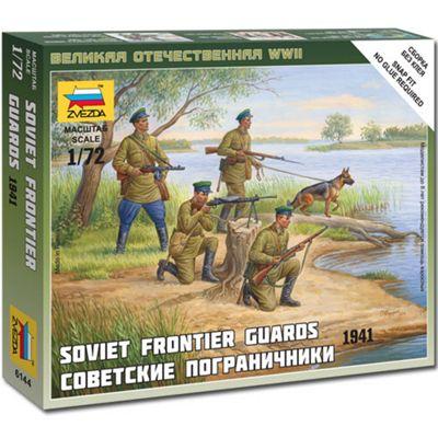 Zvezda 6144 Soviet Frontier Guards 1941 1:72 Figures Snap Fit Model Kit