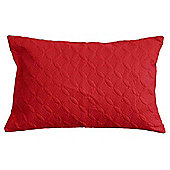 Homescapes Ultrasonic Red Quilted Embossed Filled Cushion, 50 x 75 cm