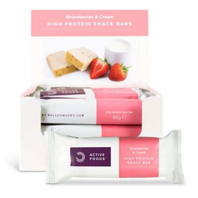 High Protein Snack Bar Strawberries & Cream Box of 12