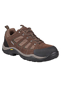 Mountain Warehouse Mens Waterproof Shoes with Suede & Mesh Upper Highly Durable - Green