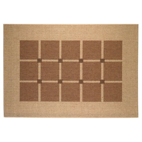 Tesco Rugs Flatweave Rug Squares, Natural 160X230Cm