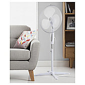 Tesco PF1617W Pedestal Fan White