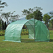 Outsunny Large Greenhouse PE cloth Walk In Two Doors Plant House Steel Frame (300L x 300W x 200H (cm))
