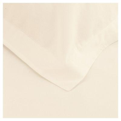 Tesco Twin Pack Pillowcase, Cream