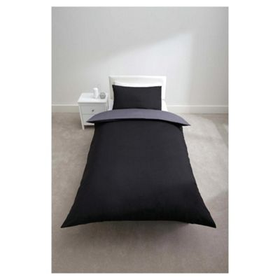 Tesco Reversible Single Duvet Set, Midnight/Powder