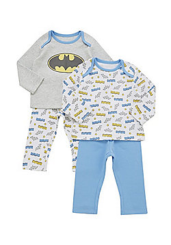 DC Comics 2 Pack of Batman Pyjamas - Multi