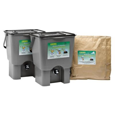 Straight PLC Kitchen waste composter kit 18 litre (double)