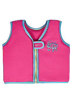 Speedo Sea Squad Infant Toddler Kids Girls Swim Float Vest Pink - 2-4 Years