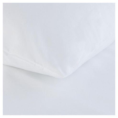 Tesco Twin Pack Pillowcase, White