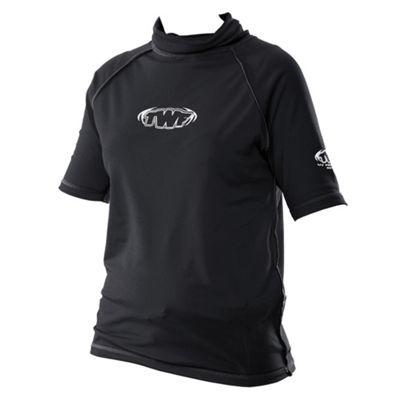 TWF UV Adult Unisex Rash Vest, Black Small 34-36