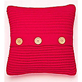 Catherine Lansfield Home Chunky Knit Cushion Cover (45x45cm) - Red