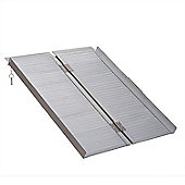 Homcom Portable Folding Aluminum Ramp with Carry Handle for Wheelchair Pet (3ft)