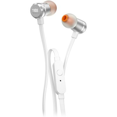 JBL T290 In-Ear Headphone With 1-Button Mic/Remote Silver
