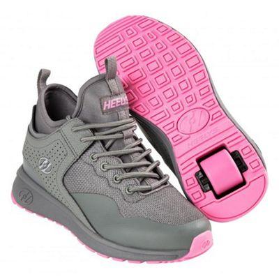 Heelys Piper Grey/Pink Kids Heely Shoe UK 1