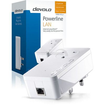 Devolo dLAN Powerline 1200+ Single Adaptor