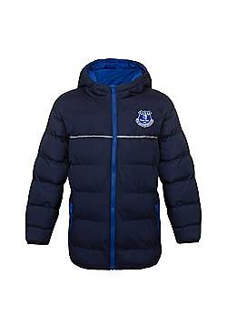 Everton FC Boys Quilted Jacket - Navy