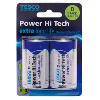 Tesco Hi Tech 2 Pack D Batteries
