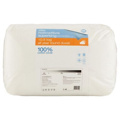 Tesco Standard Cotton Cover Super King Duvet, 10.5 Tog