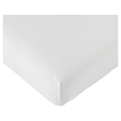 Tesco Value King Fitted Sheet, White