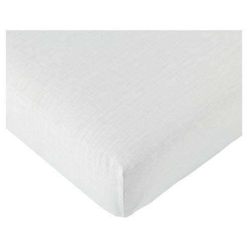 Tesco Value King Fitted Sheet, White