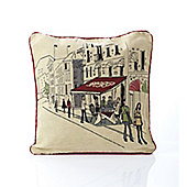 Alan Symonds Tapestry Street Cafe Cushion Cover - 45x45cm