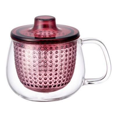Kinto Unimug in Wine Red Heat Resistant Glass