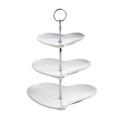 Maxwell Williams 3 Tier Heart Cake Stand
