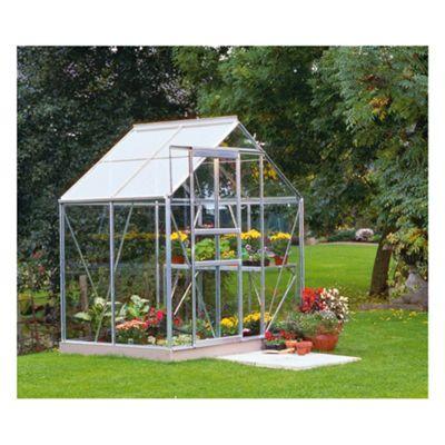 6x4 Aluminium Greenhouse Horticultural Glass