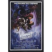 Framed Darth Vader Empire strikes Back poster signed by Dave Prowse