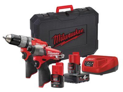 Milwaukee M12 CPP2C-422C Fuel Twin Pack 12 Volt 1 x 4.0Ah/1 x 2.0Ah Li-Ion