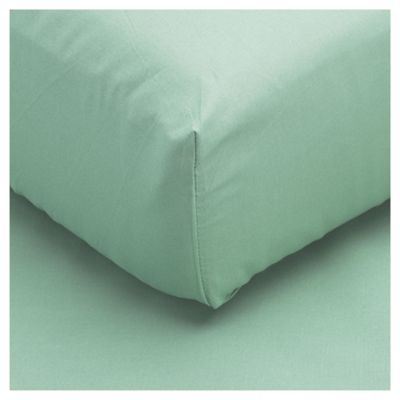Tesco Single Fitted Sheet, Aqua