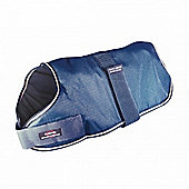Outhwaite Waterproof Dog Coat Padded Lining - Navy 45cm