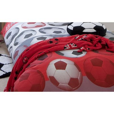 Catherine Lansfield Football Throw in Red