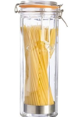 Kilner Faceted Spaghetti Clip Top Jar - 2.2 Litre