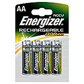 Energizer 4 Pack Rechargable AA Batteries