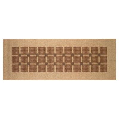 Tesco Flatweave Runner Squares, Natural 67X180cm