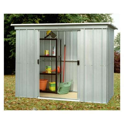 Buy yardmaster metal pent shed from our metal sheds range for Garden shed 4x4