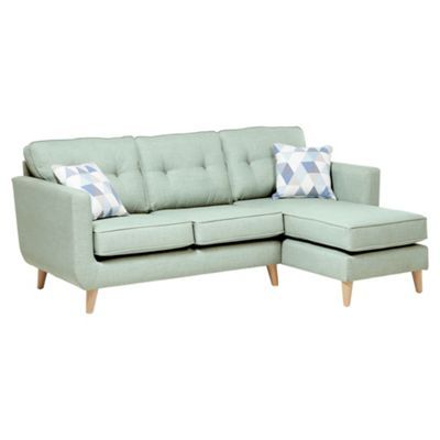 Sienna Button Back Right Hand Corner Chaise, Mint
