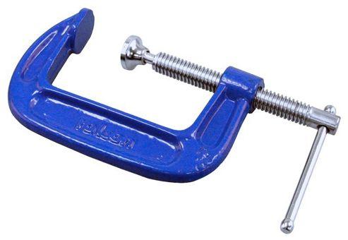 Rolson Fine Thread G-Clamp, 100mm, Blue