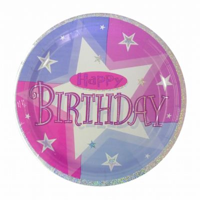 Pink Shimmer Disposable Party Plates