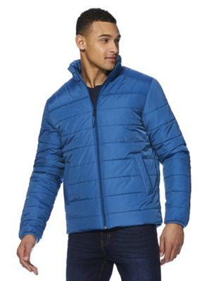 F&F Shower Resistant Puffer Jacket Blue L