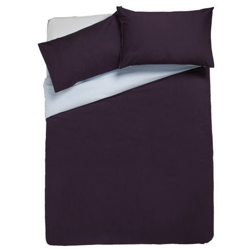 Tesco Reversible Double Duvet Set, Midnight/Powder