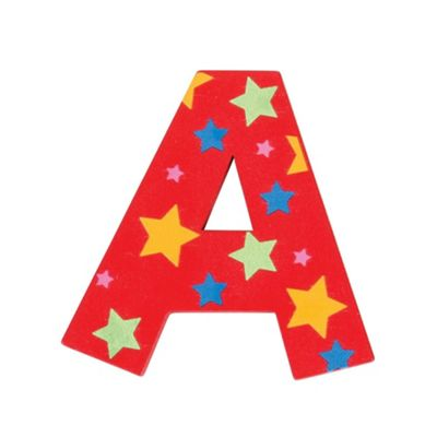 Bigjigs Toys Star Letter A (Red)